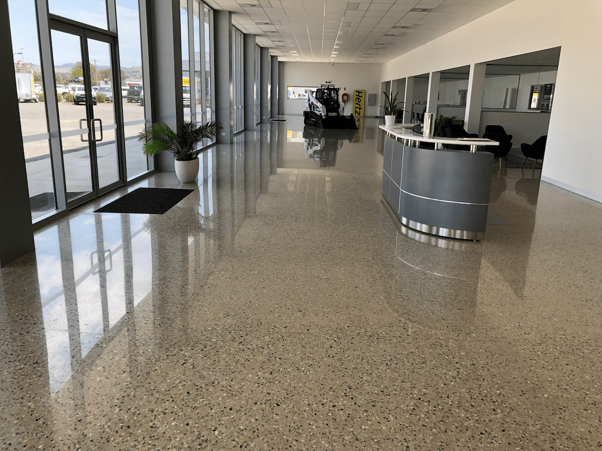 commercial polished concrete floor gold coast