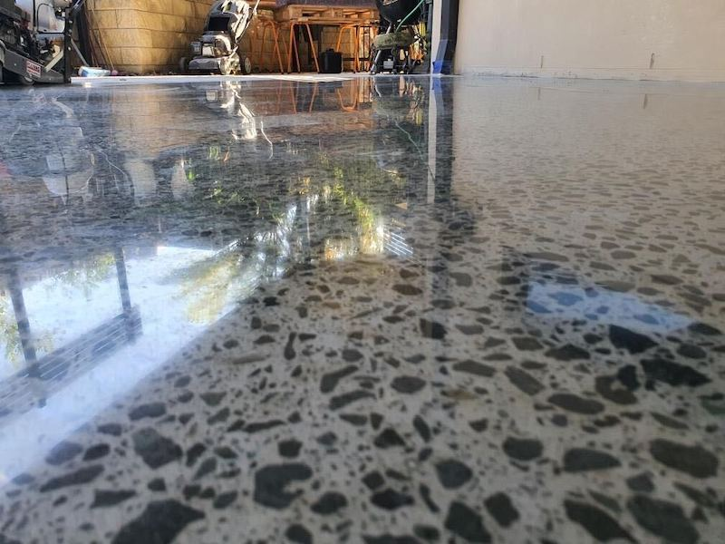 polishing a concrete floor in brisbane