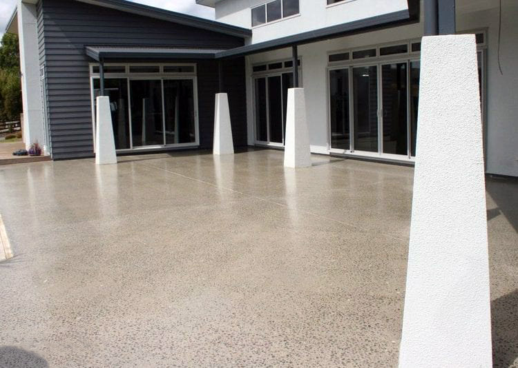 grind and seal concrete floor on a patio