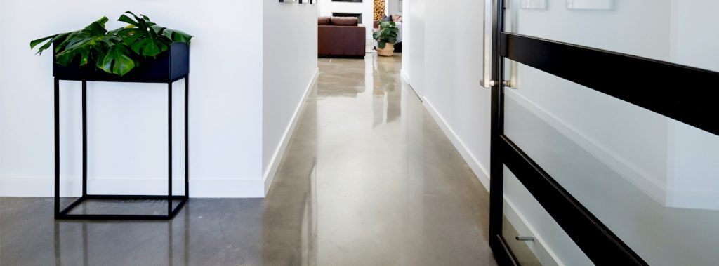 concrete polished floor with nil exposure